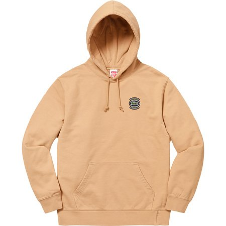 Supreme®/LACOSTE Hooded Sweatshirt (Light Brown)