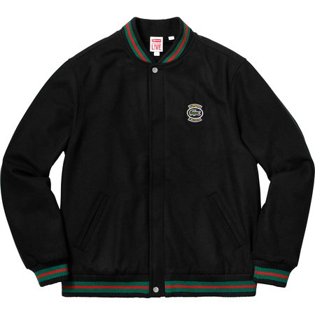 Supreme®/LACOSTE Wool Varsity Jacket (Black)