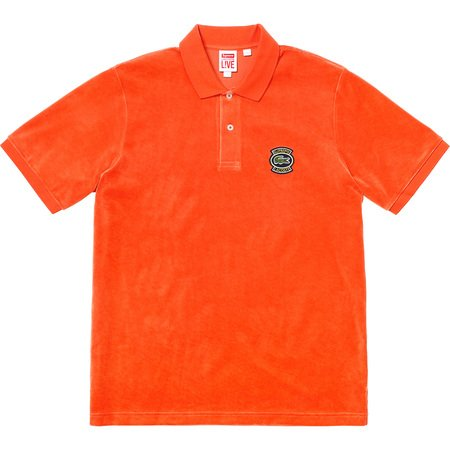 Supreme®/LACOSTE Velour Polo (Orange)
