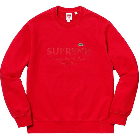Supreme®/LACOSTE Crewneck (Red)