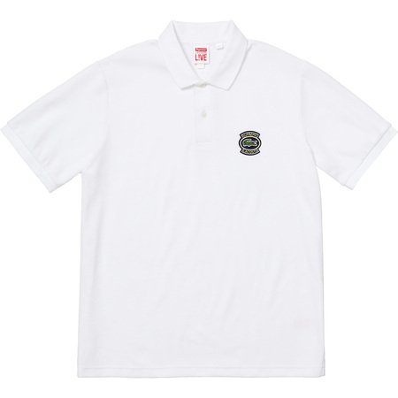 Supreme®/LACOSTE Velour Polo (White)