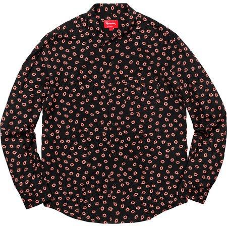 Flowers L/S Rayon Shirt (Black)