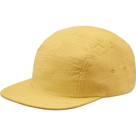 Debossed Corduroy Camp Cap (Yellow)