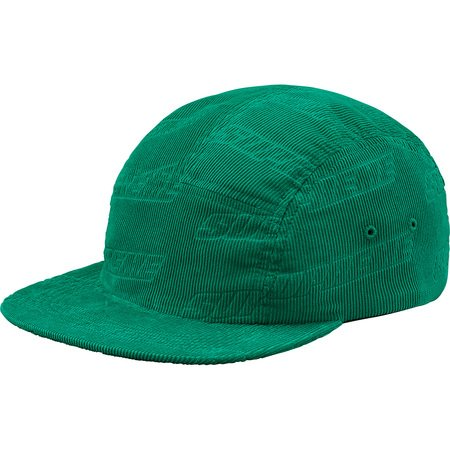 Debossed Corduroy Camp Cap (Teal)