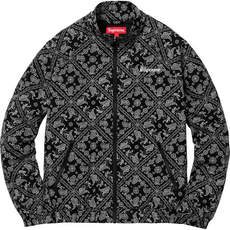 Bandana Track Jacket (Black)