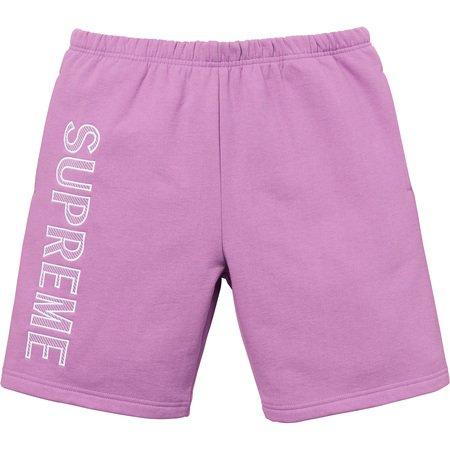 Leg Embroidery Sweatshort (Violet)