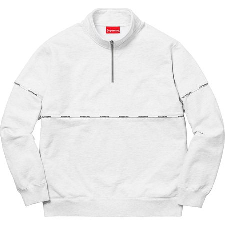 Logo Piping Half Zip Sweatshirt (Ash Grey)