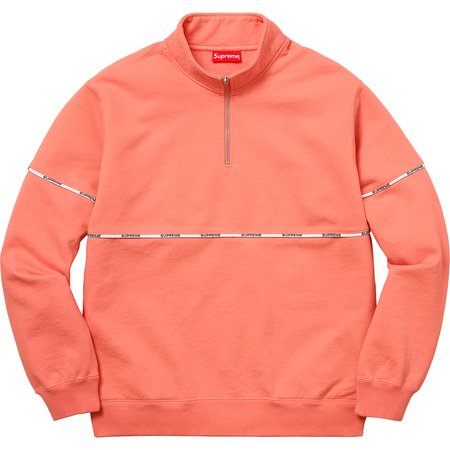 Logo Piping Half Zip Sweatshirt (Coral)