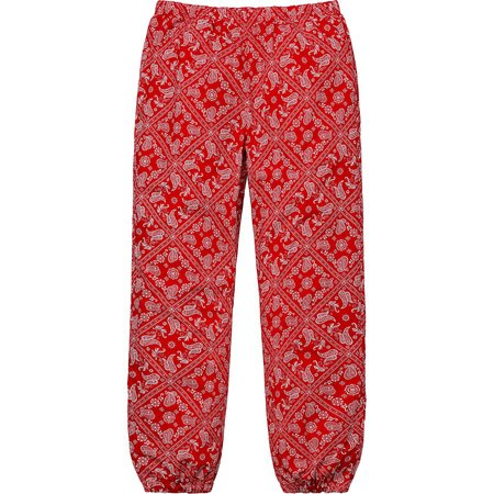 Bandana Track Pant (Red)