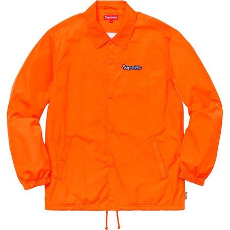 Gonz Logo Coaches Jacket (Orange)