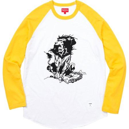 Lion Raglan Baseball Top (Yellow)