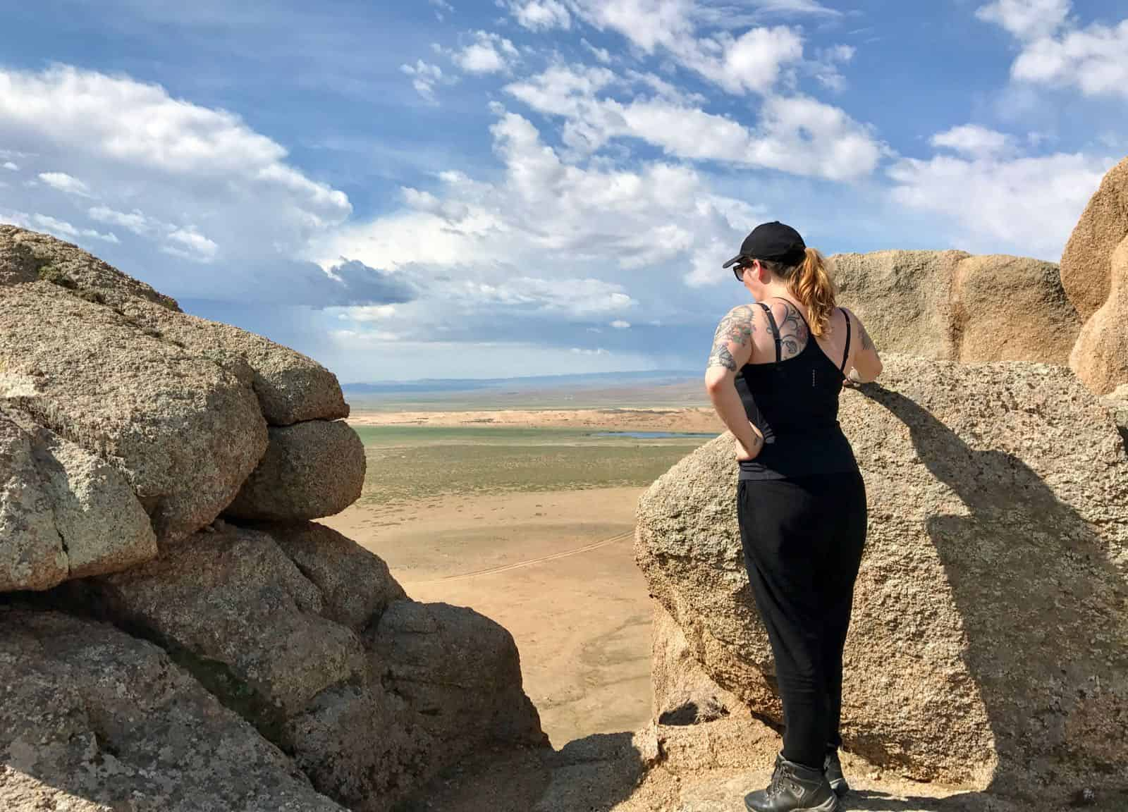 Hannah View Mongolia Rocks betternotstop Steppe