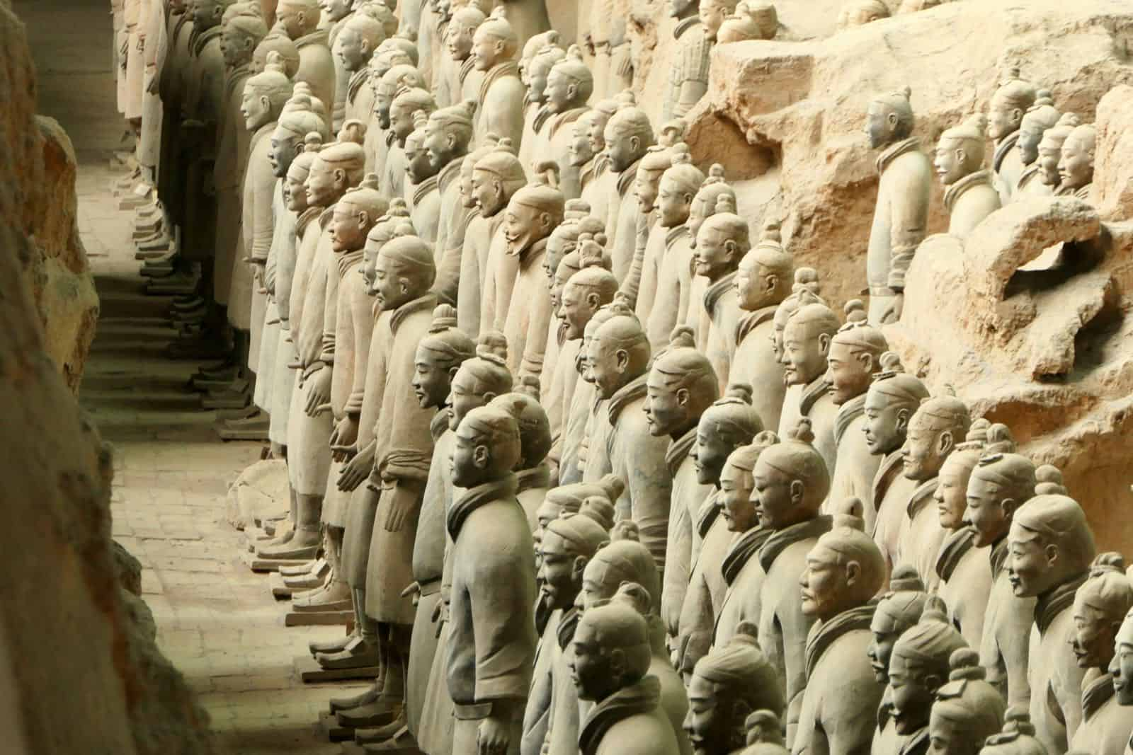 Front Ranks Terracotta Army Xi'an China betternotstop