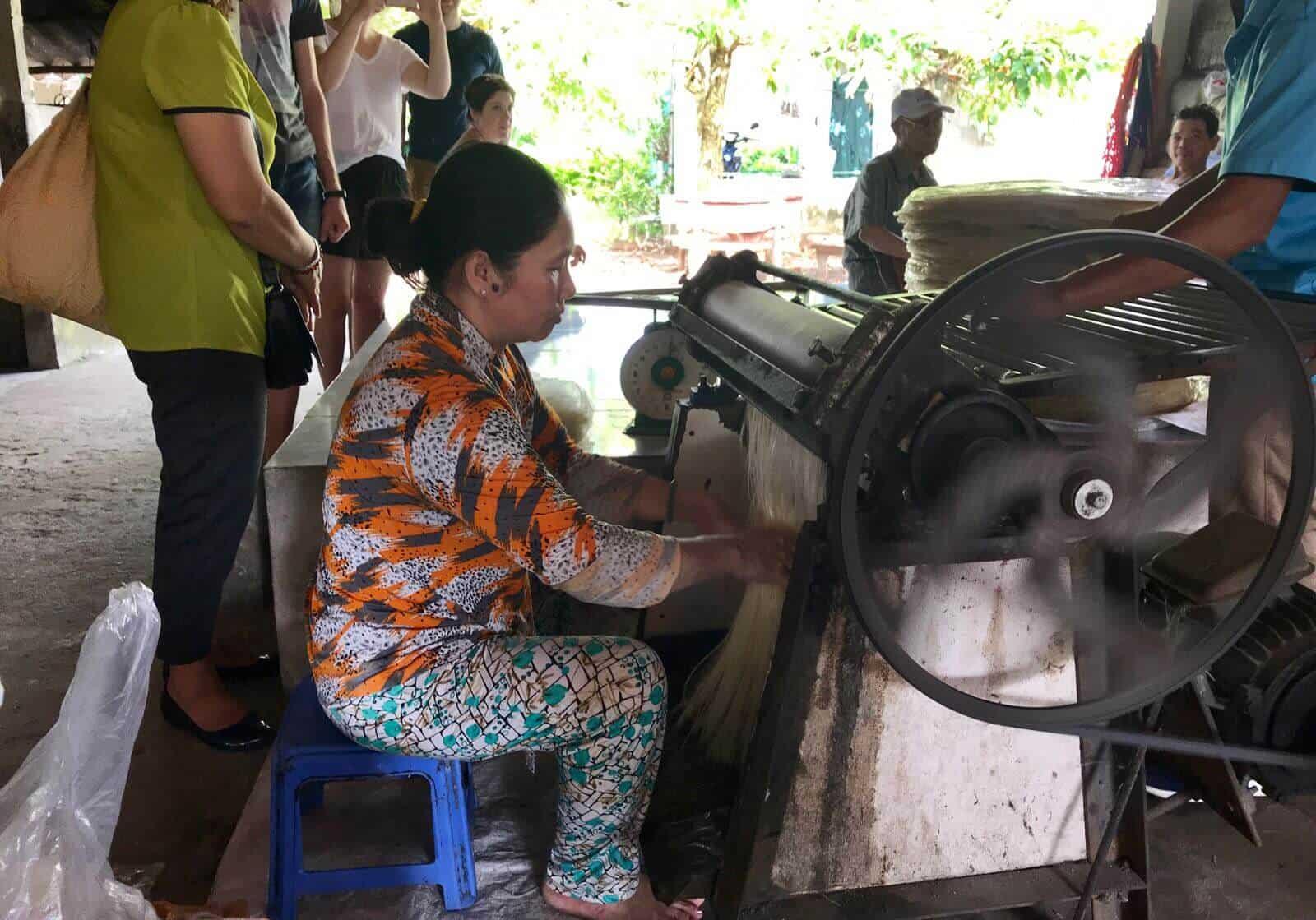 Rice Noodles Factory Mekong Delta Vietnam betternotstop Hannah