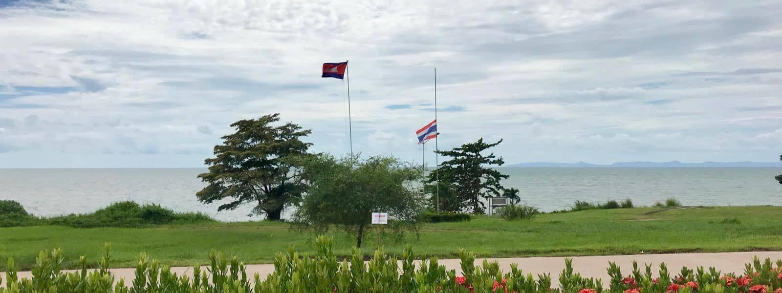 half mast border crossing betternotstop Thailand Cambodia