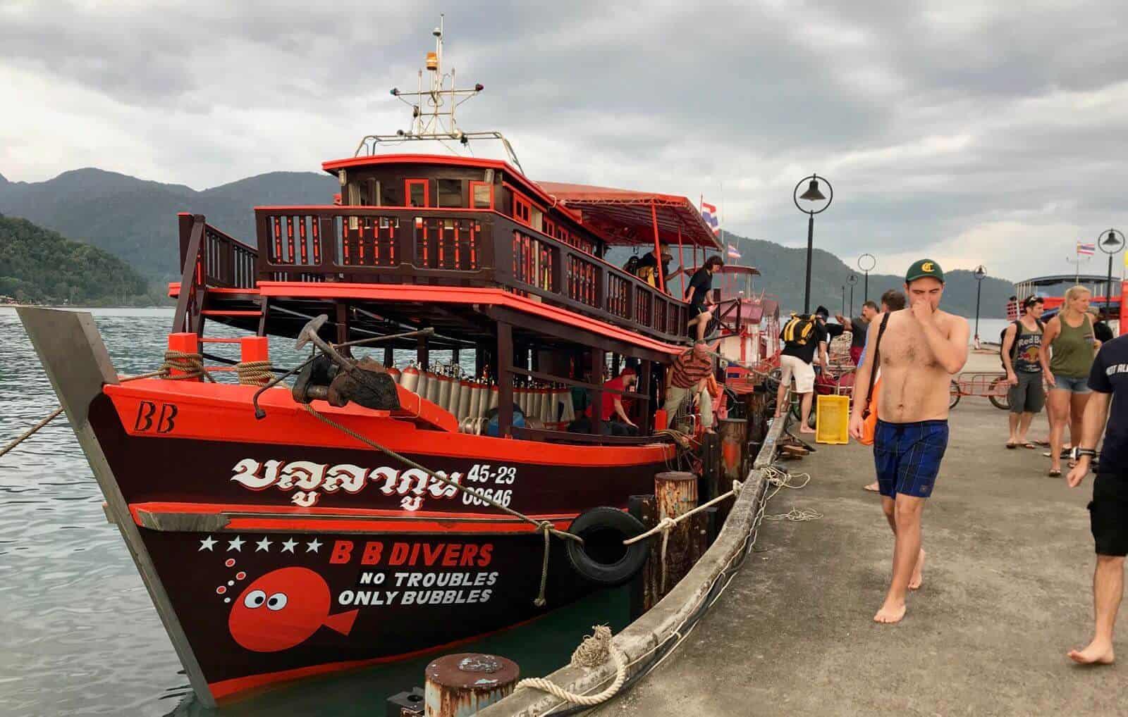 Diving freediving scuba Koh Chang Thailand