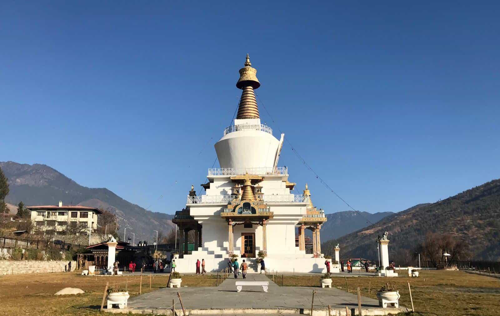 Buddhist stupa Thimphu Bhutan betternotstop