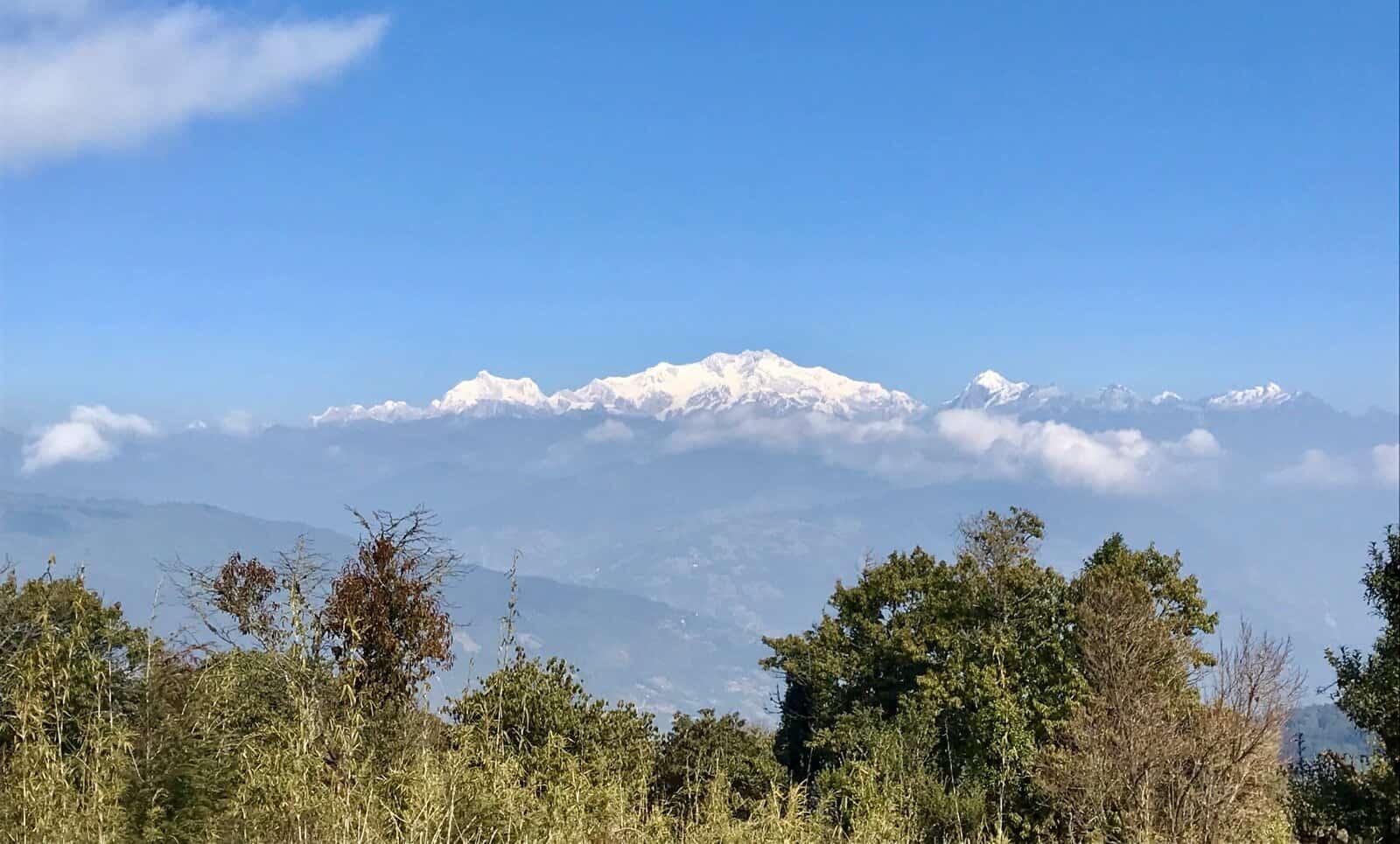 View from the hills betternotstop nepal trek