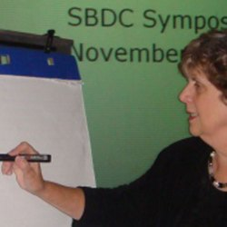 Jackie teaching at the SBDC