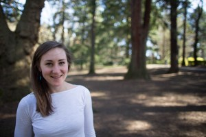 Photo of smiling woman, with trees in outdoor setting; Lauren of Found Marketing