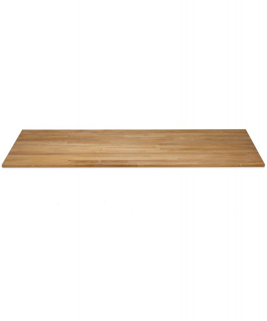 Tischplatte Aus Teakholz In 40mm Keilgezinkt Fsc 100