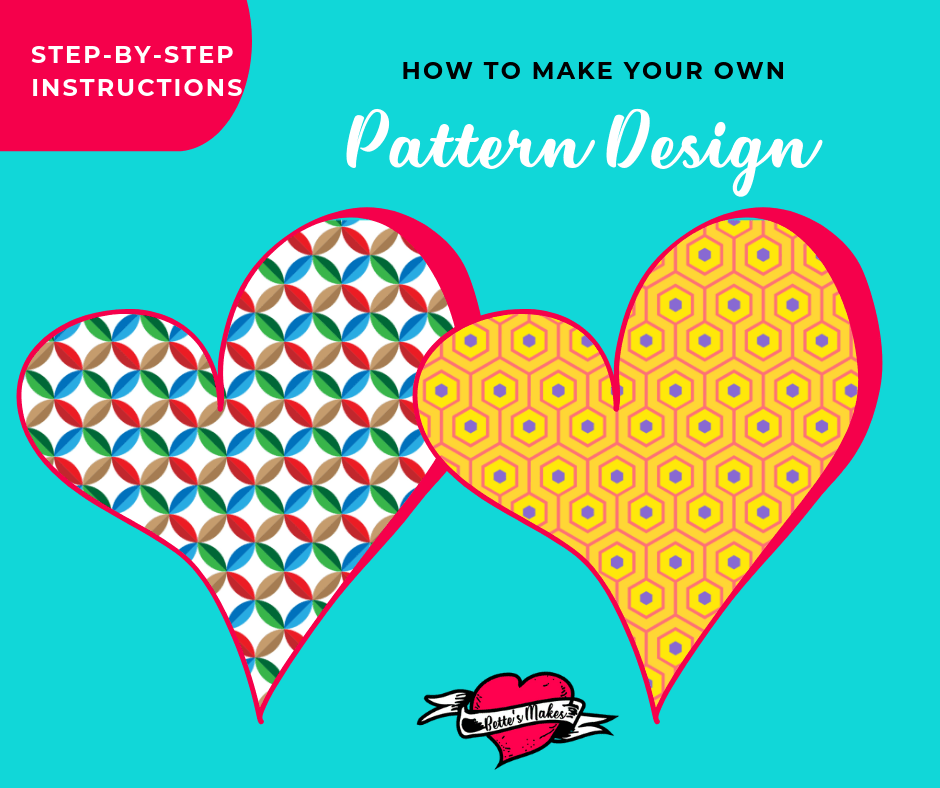 How to Make your own patterns! You can design really great patterns just using simple shapes and changing up the colors. Learn how to design your own patterns with ease.  BettesMakes.com