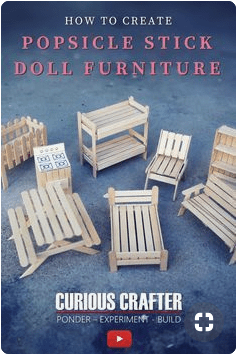 Popsicle Stick Craft Doll house Furniture