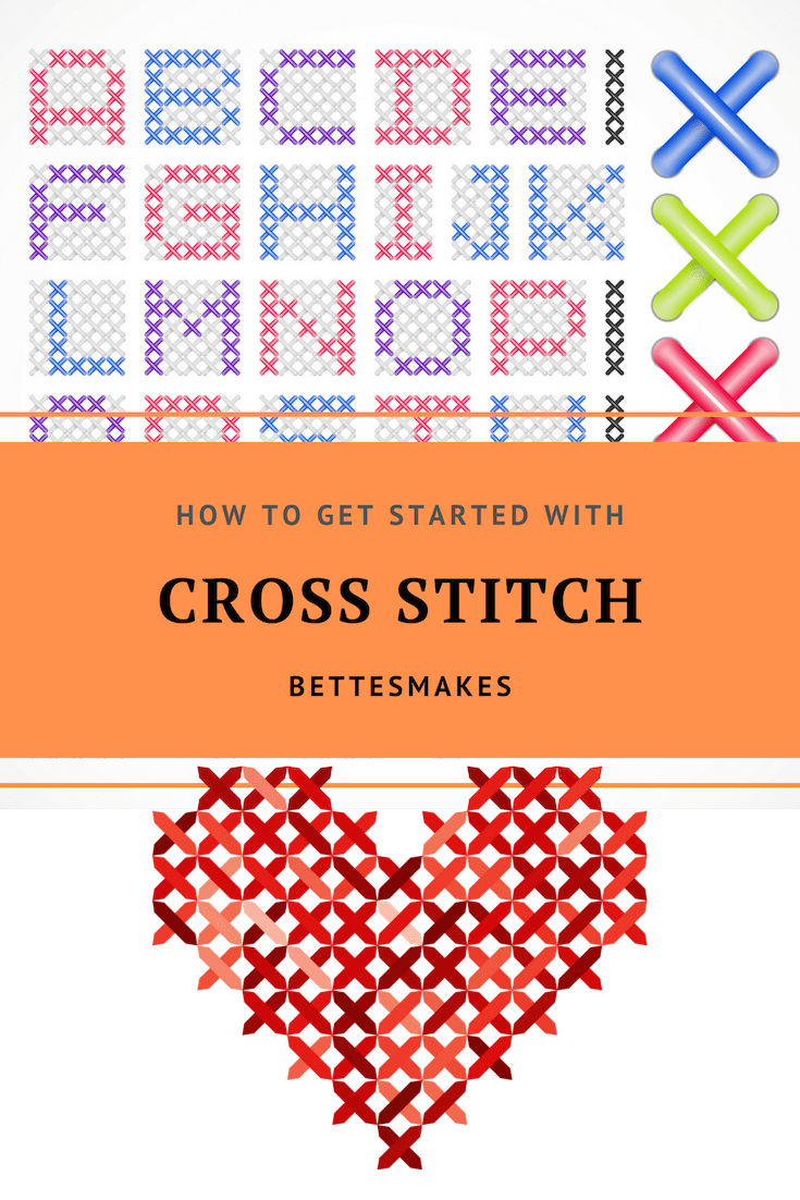 How to get started with cross stitich from bettesmakes.com