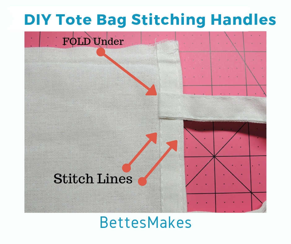 DIY Tote Bag Stitching Handles