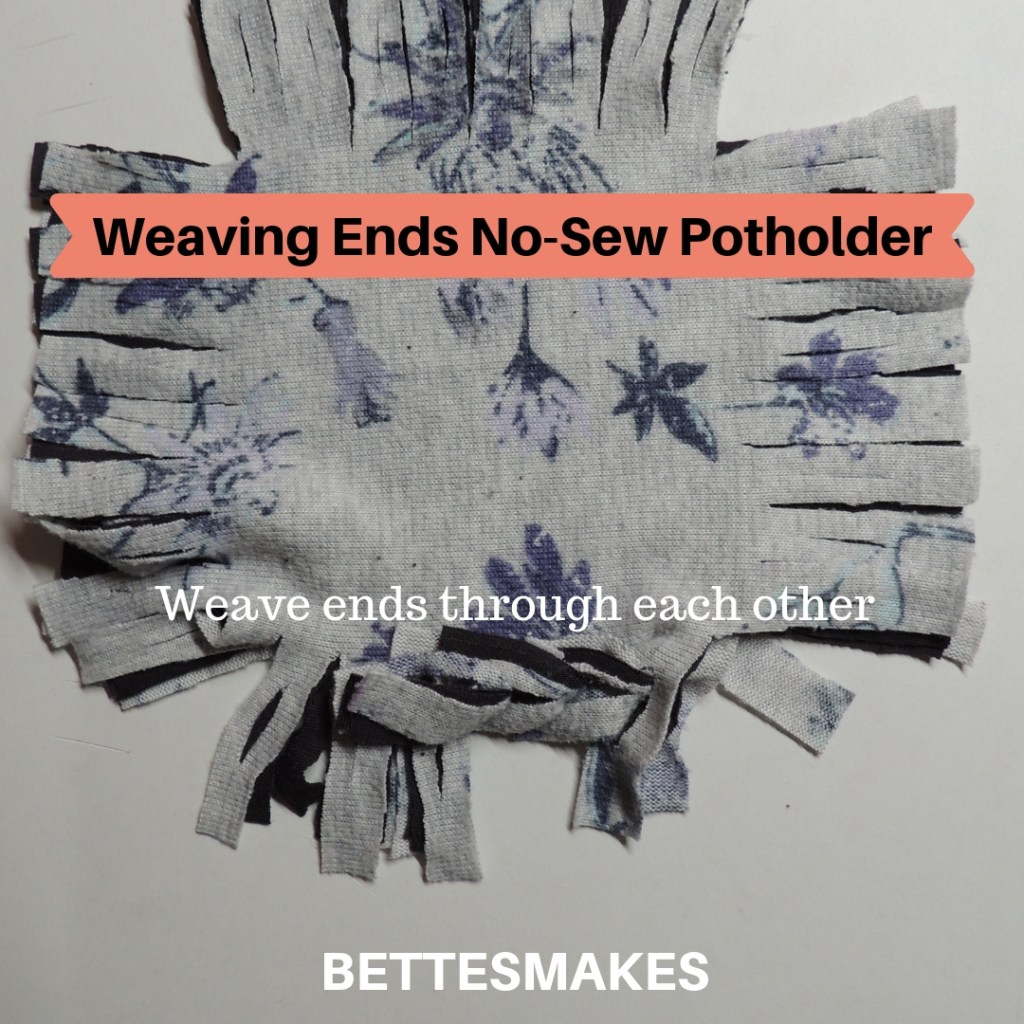 Weaving Ends No-Sew Potholder