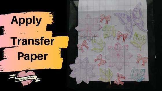 Apply Transfer Paper (Tape)