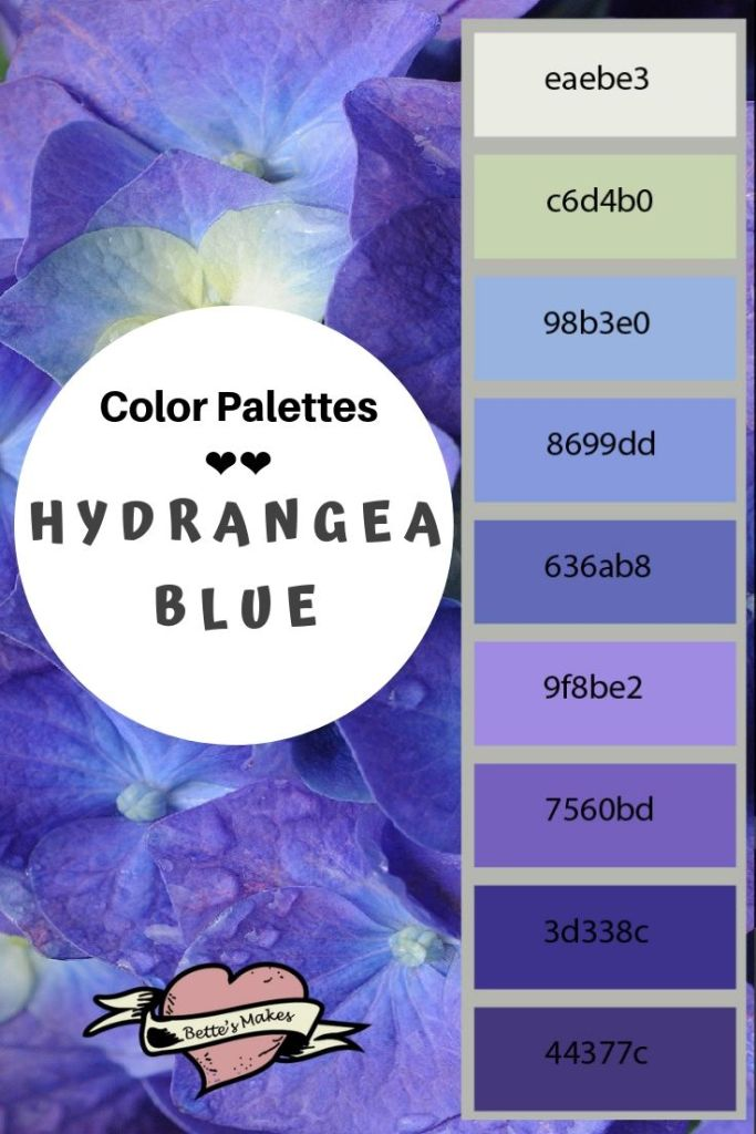 Color Palette - Hydrangea Blue