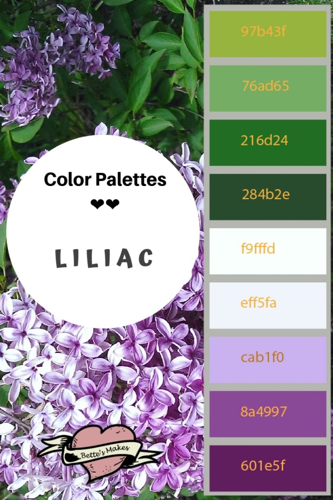 Color Palettes - Liliac from https://bettesmakes.com