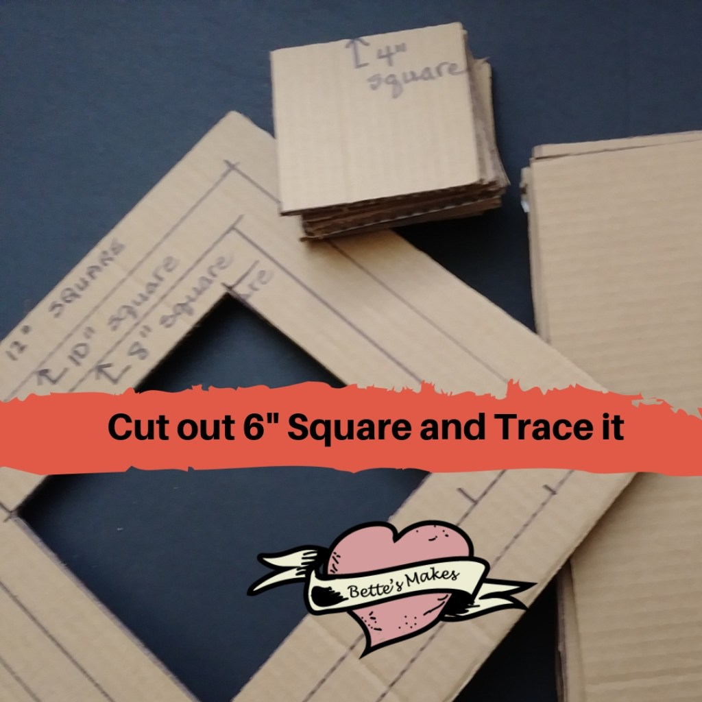 Cut out 6 inch Square and trace it