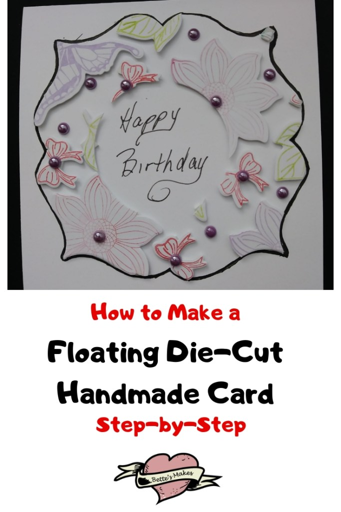 How to make a floating die-cut handmade card