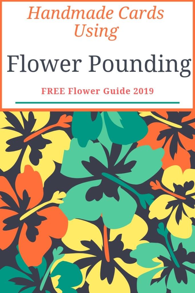 Handmade cards using flower pounding