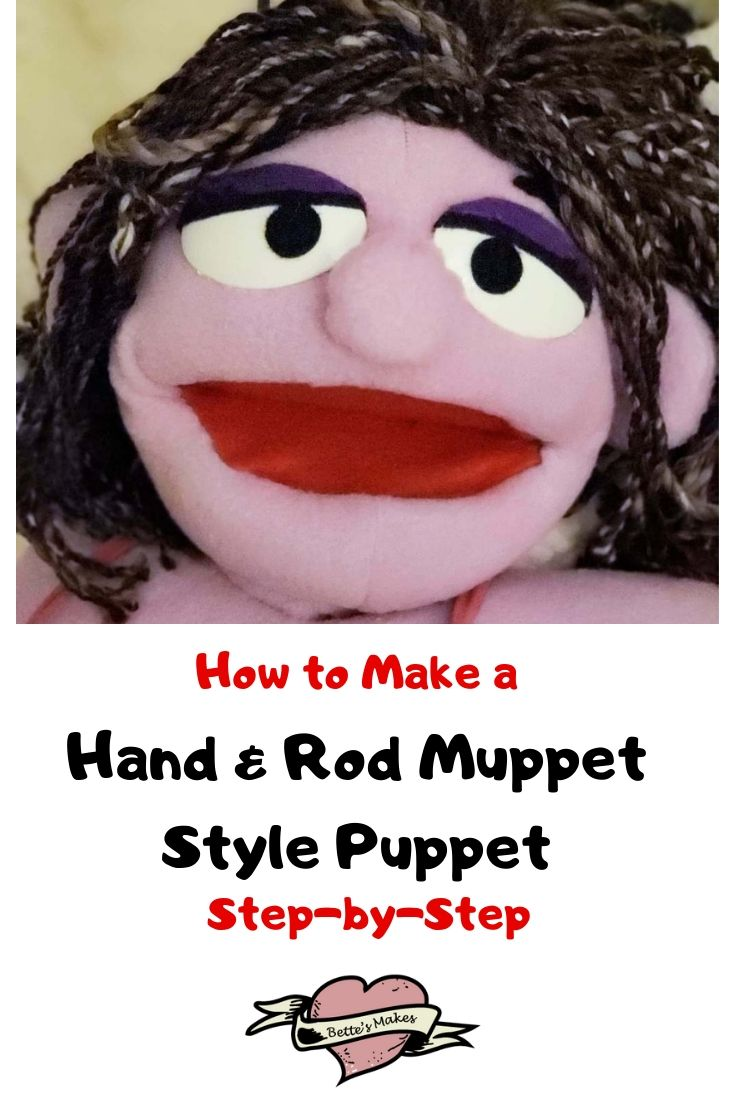 How to Make a Hand & Rod Muppet Style Puppet