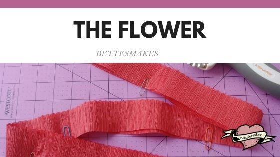 Cutting the Streamer for the Carnation Flower