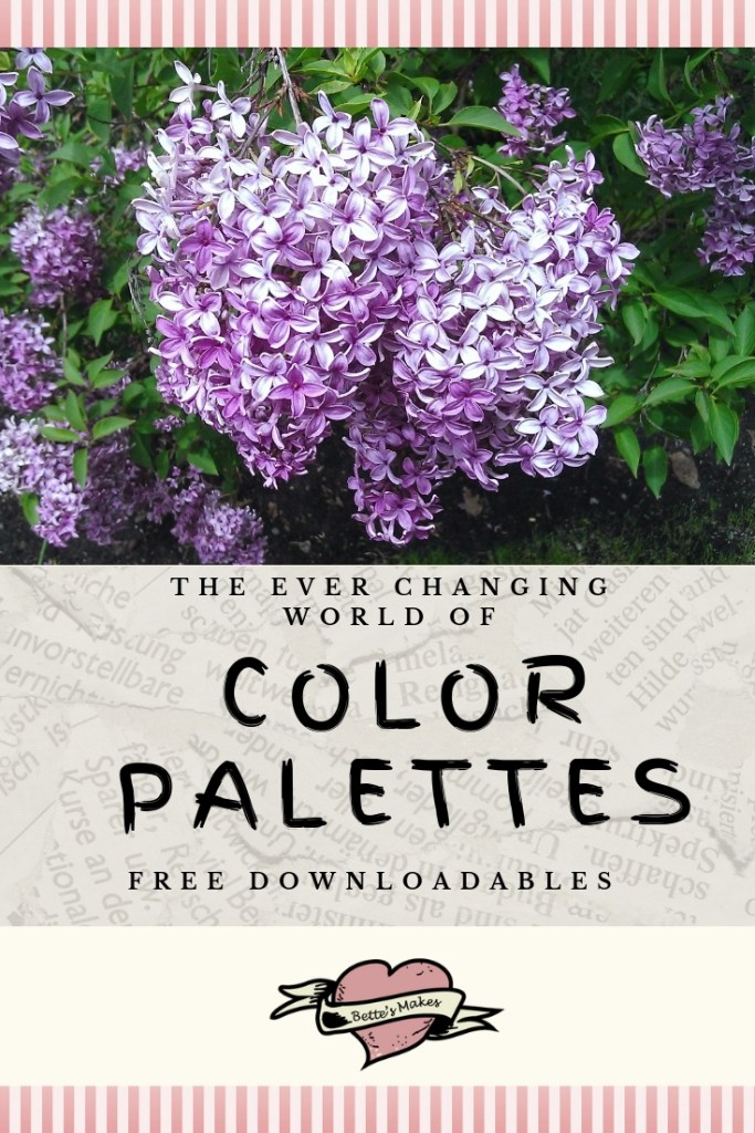 The every Changing World of Color Palettes
