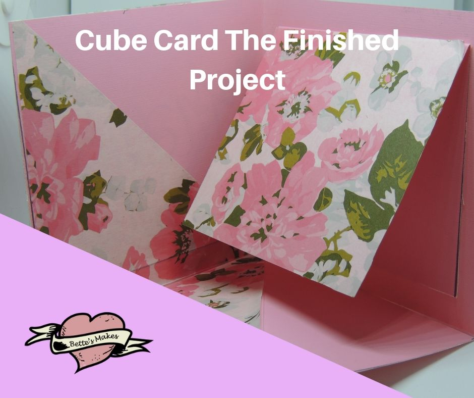 Handmade Card: Cube Card Finished Project - BettesMakes.com