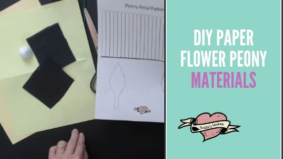DIY Paper Flower Peony materials - BettesMakes