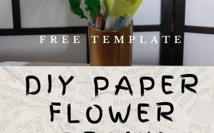 DIY Paper Flower Peony - BettesMakes