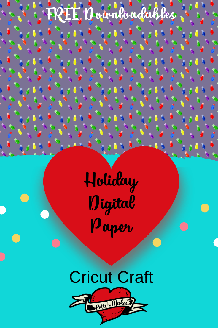 Christmas Ornament Design File 02 - the first in a series of FREE digital downloads from BettesMakes.com #papercraft #digitalpaper #cricut