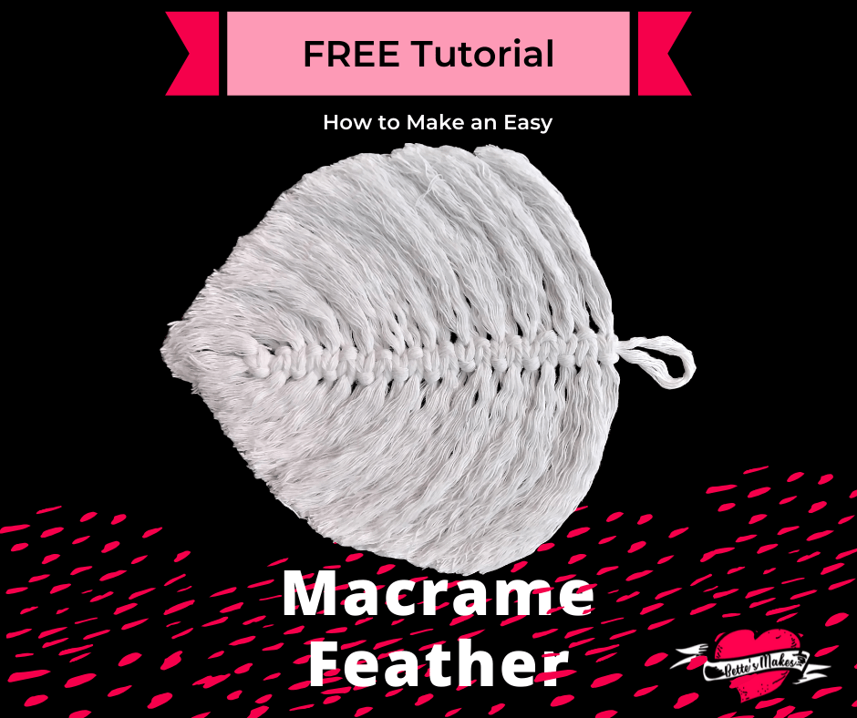 Macrame is back in fashion! This feather is the perfect make for your DIY Home Decor! Imagine decorating a hallway wall with this fun project. #macrame #macrametutorial #macrameleaf