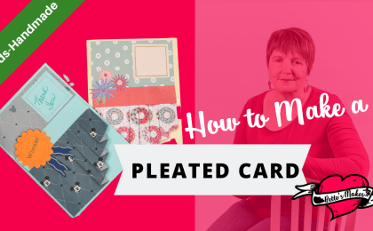 Do you love to make cards? This card will add to your skill set with adding some cute pleats! Perfect for that special occasion! A craft for the whole family! #cricut #cricutcraft #papercraft #cardshandmade #cards