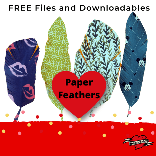 How To Make Paper Feathers Using a Feather Template