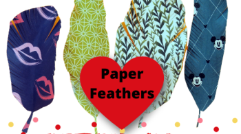 How to Make Cute and Easy Paper Feathers