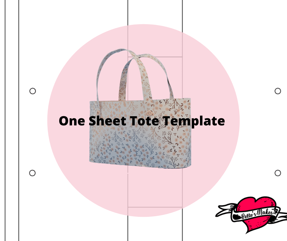 How to Make a One Sheet Tote Bag Template from BettesMakes