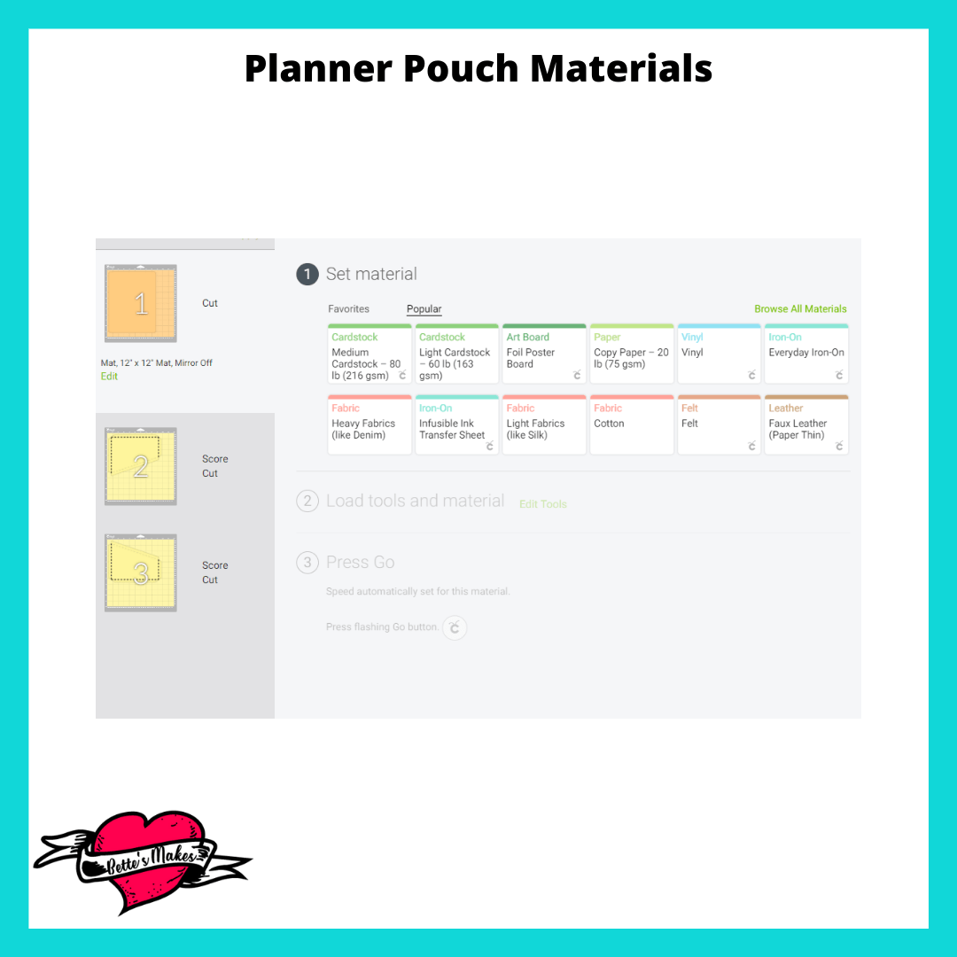 Planner Pouch Materials