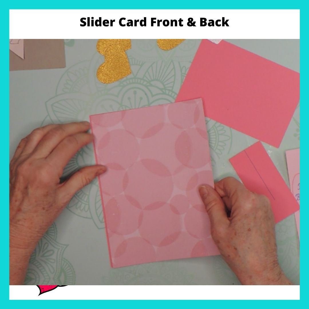 Slider Card Front and Back